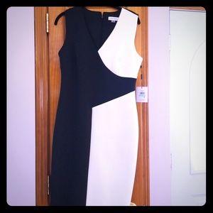 Calvin Klein Geometric Scuba Dress NWT